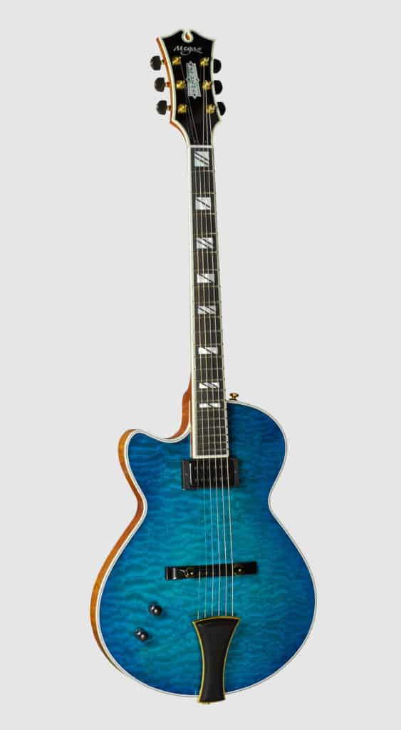 Athena Solidbody Left Blue front