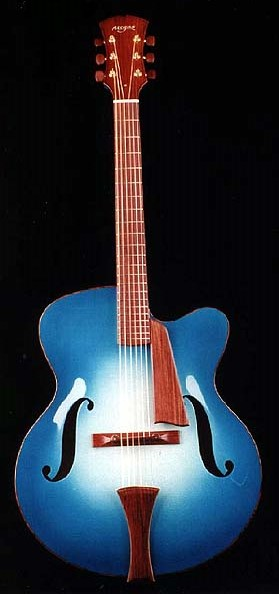 Megas' guitar contributed to the Chinery Blue Guitar Collection