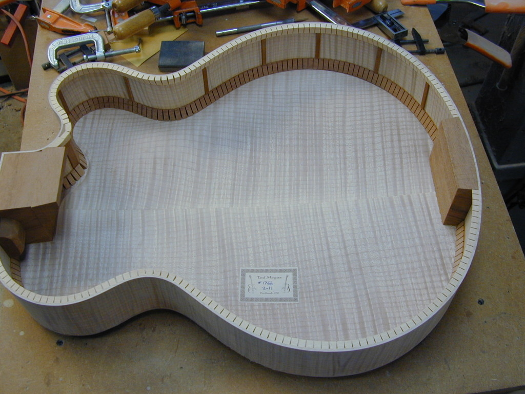 Completed archtop body. Next step will be to glue top onto it.