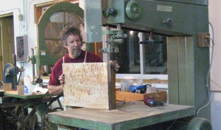 Sawing one piece backs on the 36 bandsaw
