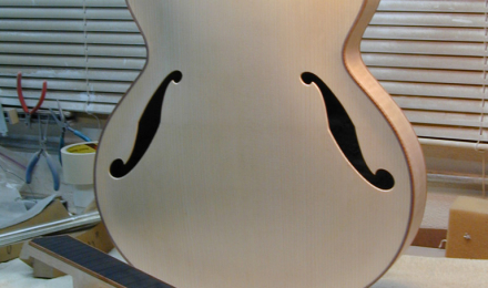 Zeidler project guitar on my workbench 2002
