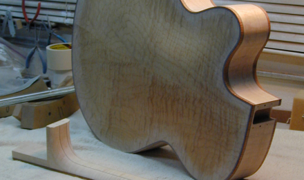 Zeidler project guitar on my workbench