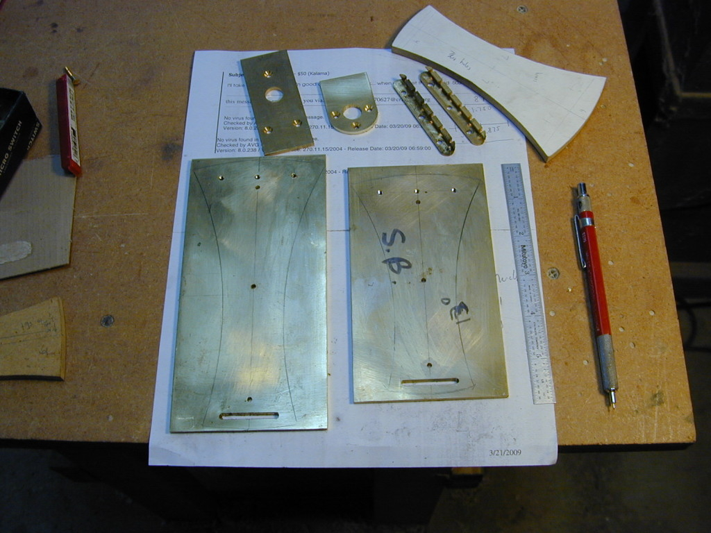 Brass parts for tailpiece asembly
