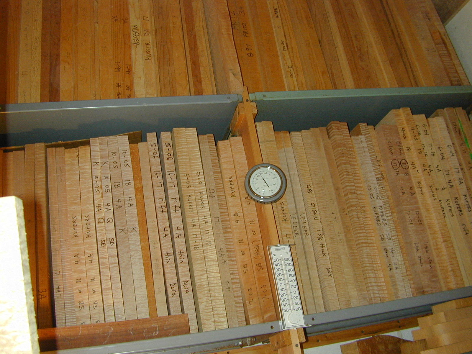 Tops and backs are graded and stored, using humidity and temperature control