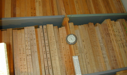 Wood storage graded